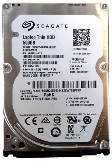 Hd Seagate Ultrabook Sata 500gb 7200Rpm 6gb/s Slim 7mm