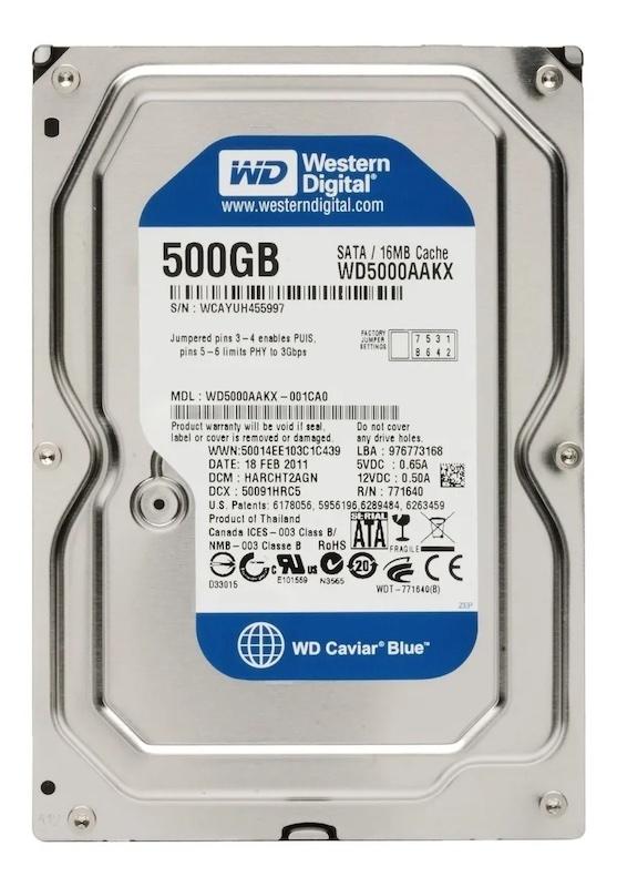 HD WD 500GB CAVIAR BLUE