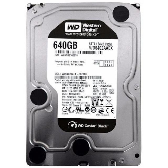 HD WD 640GB CAVIAR BLACK