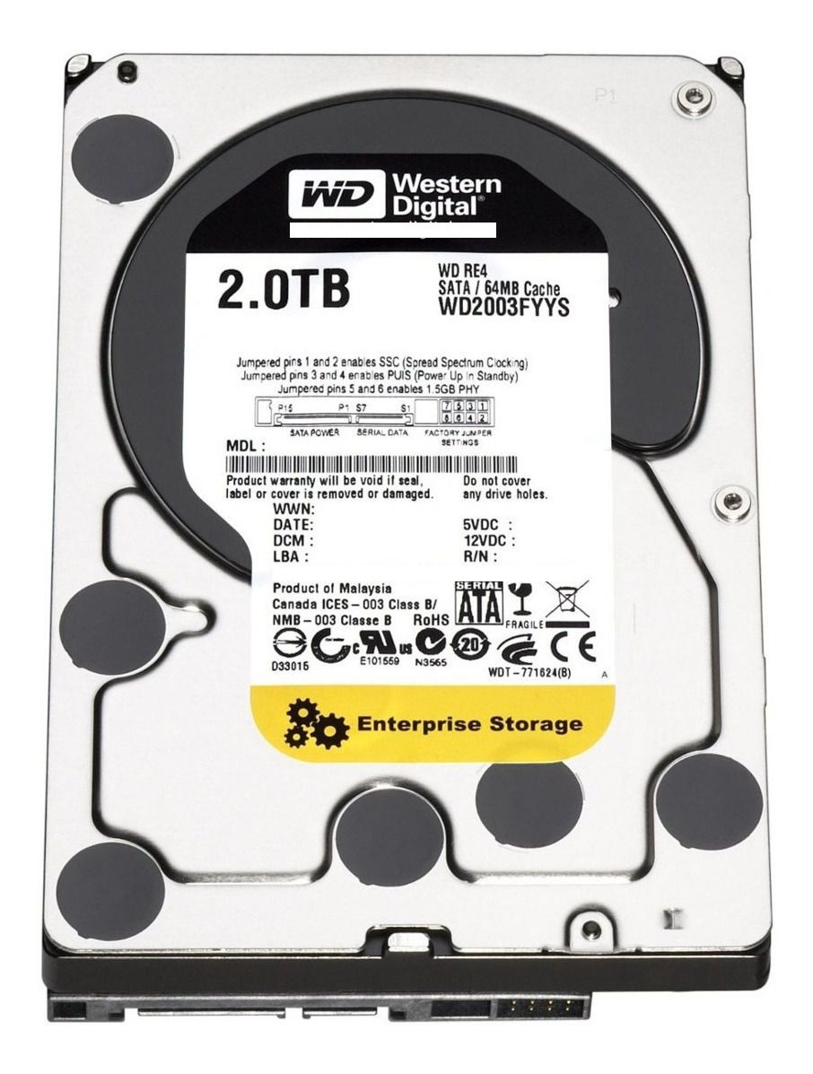 Hd Western Digital 2tb Enterprise Sata3 7200rpm 64mb