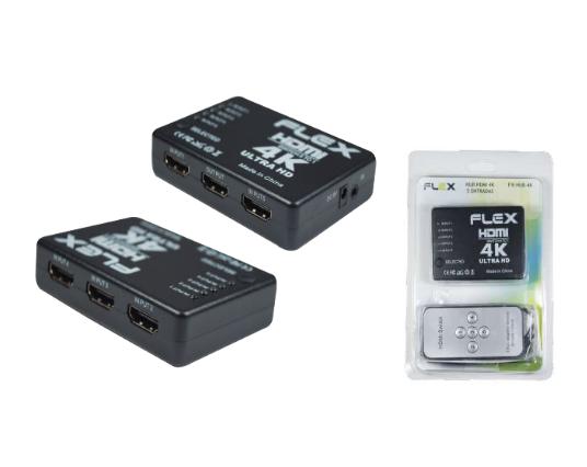 HUB HDMI 5 ENTRADAS 4K COM CONTROLE REMOTO FX-HUB-4K