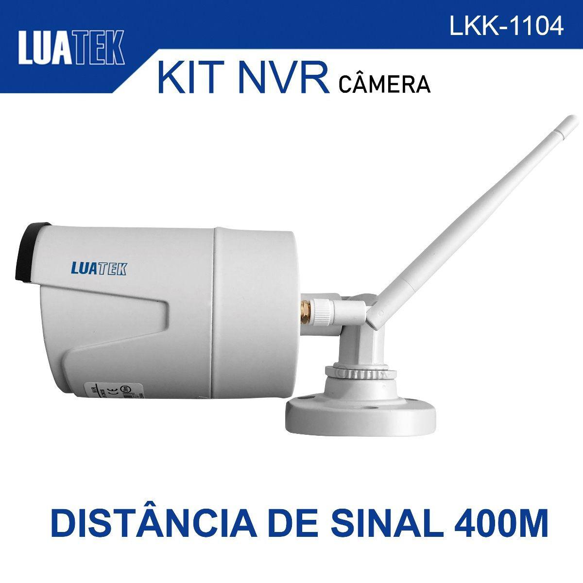 Kit 4 Câmeras sem fio WI-FI HD LKK-1104 Luatek  - Wtech vendas e Assistência técnica