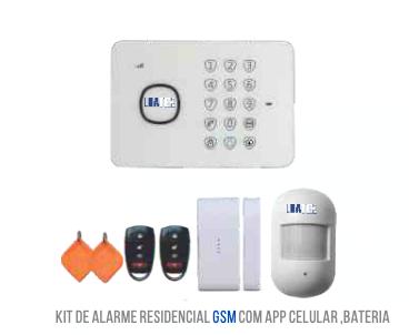 KIT ALARME S/ FIO COM DISCADORA GSM LUATEK