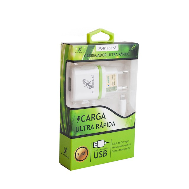 KIT CARREGADOR RAPIDO IPHONE X-CELL