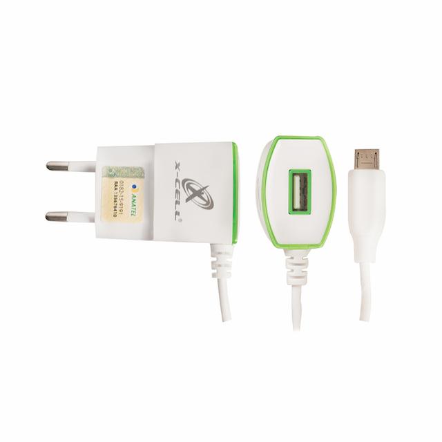 KIT CARREGADOR RAPIDO V8 1 USB 1.5A X-CELL