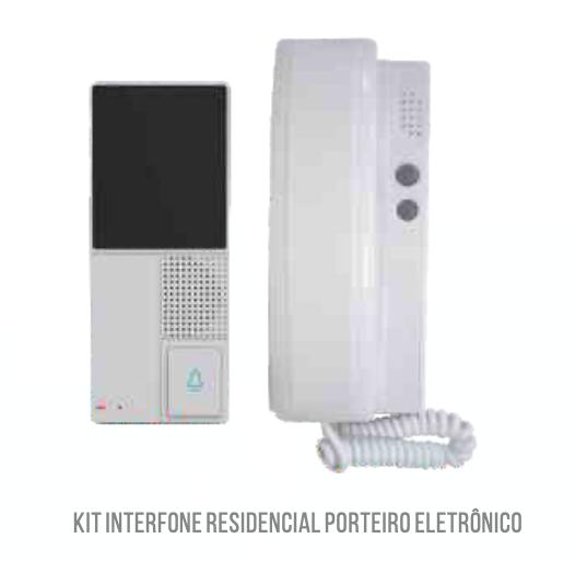 Kit Interfone Porteiro Eletrônico Residencial Casa Monofone LKM3009 Luatek