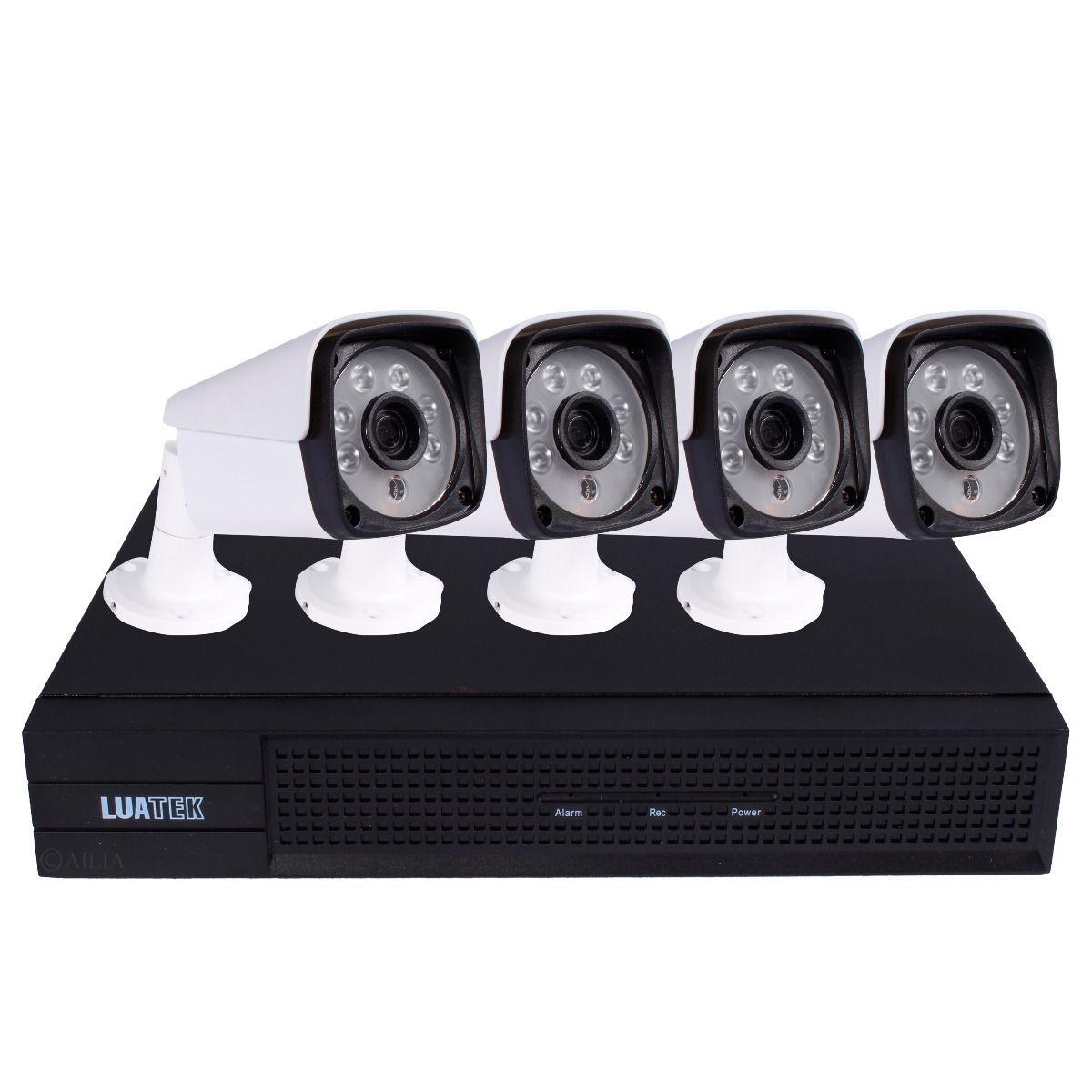 Kit Nvr Com 4 Cameras Ip Bullet Poe 2mp (1080p) 3.6mm Luatek