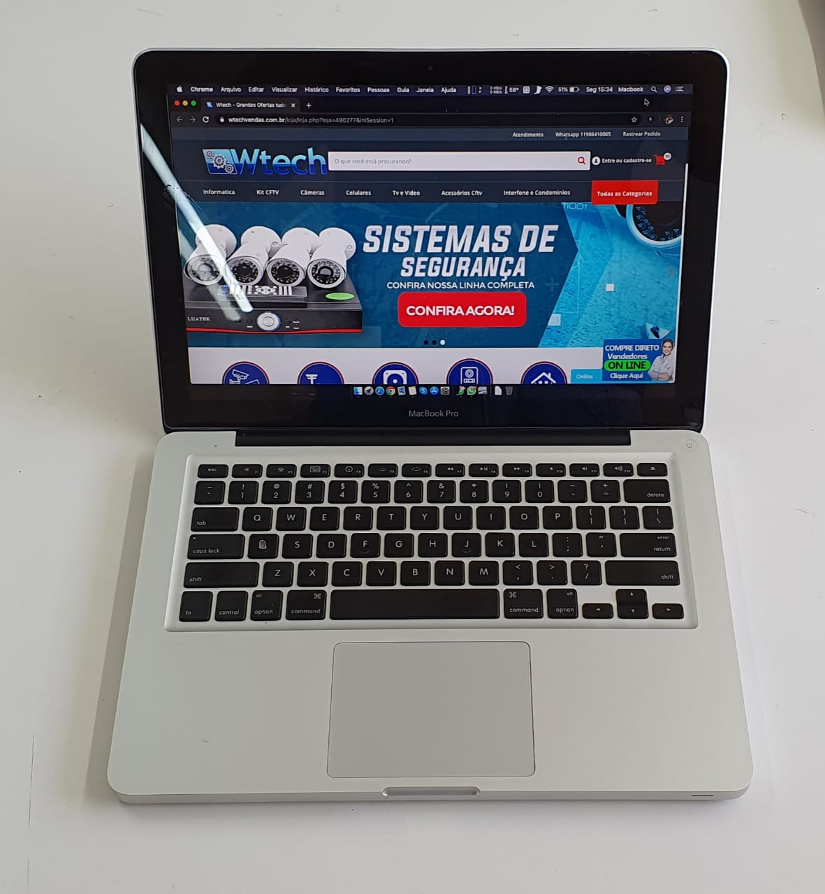MACBOOK PRO 13 POLEGADAS CORE 2 4GB RAM HD 500 USADO
