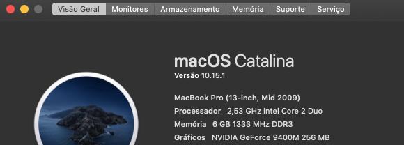 MACBOOK PRO 13 POLEGADAS CORE 2 4GB RAM HD 500 USADO