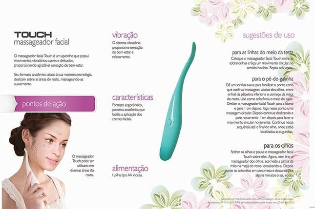 Massageador Facial Touch Fisiomedic
