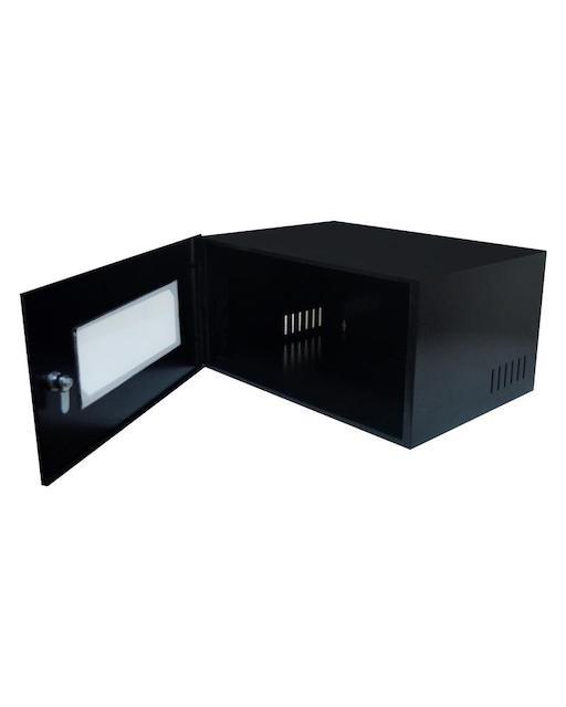 MINI RACK 5U X 350MM ECONOMIC PORTA C/ VISOR ACRÍLICO PRETOMAX ELETRON