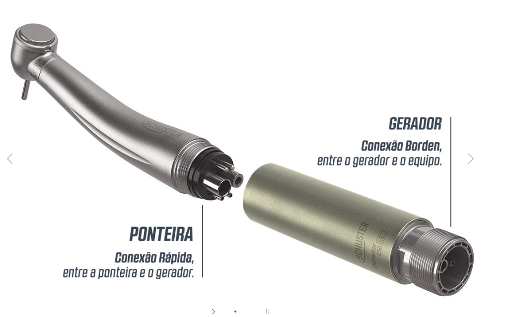 Peça de Mão de Alta Rotação LED Z50SL Schuster  - Wtech vendas e Assistência técnica