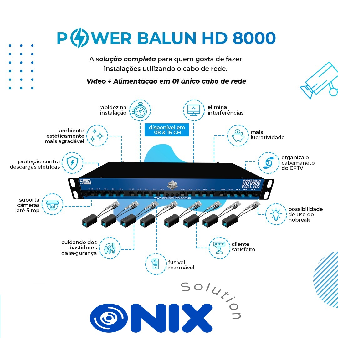 POWER BALUN HD 8000 HORIZONTAL 16CH ONIX