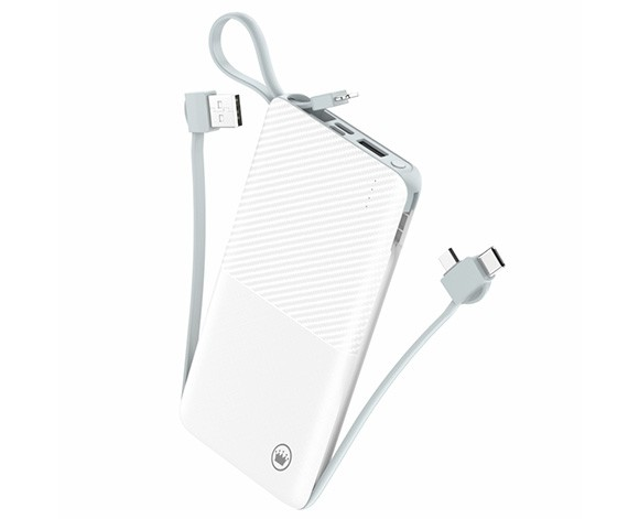 POWER BANK SLIM COM CABO REMOVÍVEL 12800MAH PN951X KIMASTER