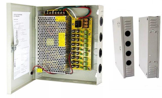 RACK PARA CFTV COM FONTE 12V 10A 120W LUATEK