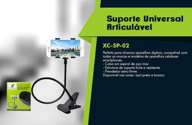 SUPORTE UNIVERSAL MODELO DE MESA COM CLIPE XCELL