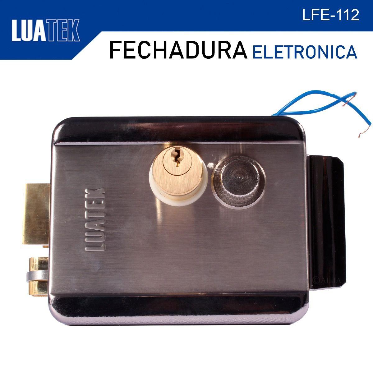 Trava Elétrica Fechadura Portão Eletrônico LFE-112 Luatek  - Wtech vendas e Assistência técnica