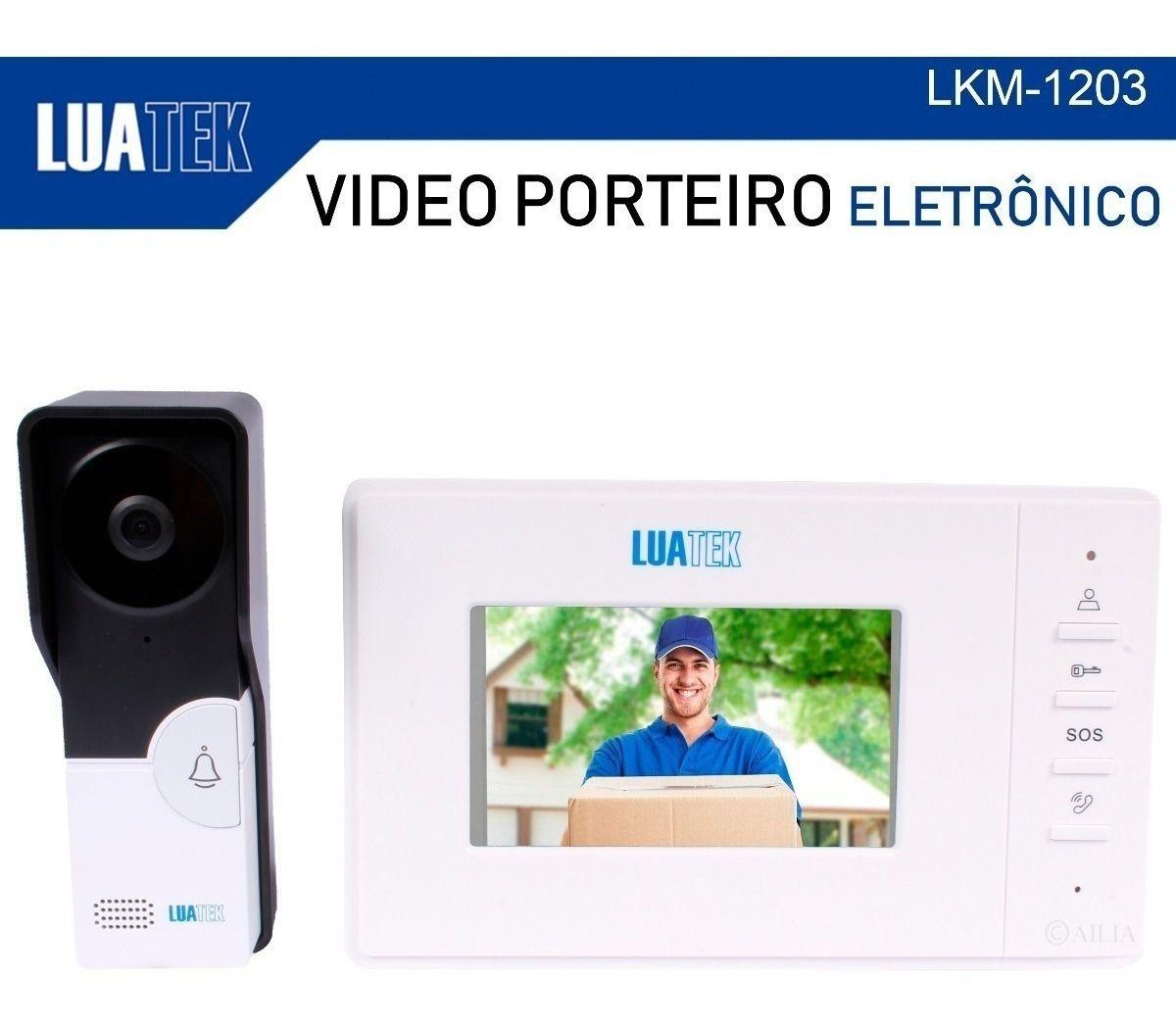 Video Porteiro Eletrônico Interfone 4.3 Visão Noturna Luatek