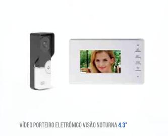 VIDEO PORTEIRO ELETRONICO TELA 4.3 POLEGADAS LUATEK