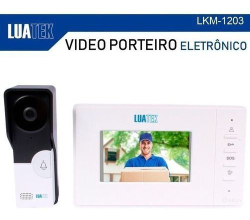 VIDEO PORTEIRO ELETRONICO TELA 4.3 VISÃO NOTURNA LUATEK