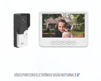 VIDEO PORTEIRO ELETRONICO TELA 7 POLEGADAS LUATEK