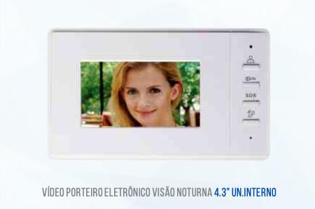VIDEO PORTEIRO TELA AUXILIAR 4,3 POLEGADAS LKM1200 LUATEK