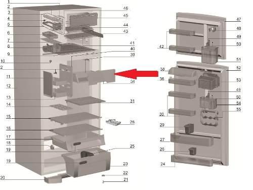 Tampa Compartimento Gelado Geladeira Electrolux Df47 Df50 Dfn50