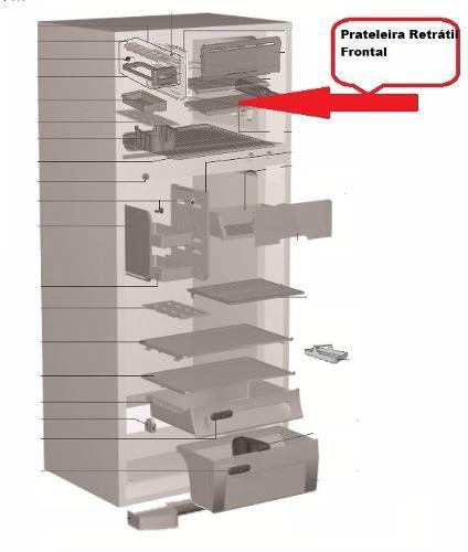 Kit Prateleira Retrátil Frontal E Trazeira Df47 Df50 Dfn50