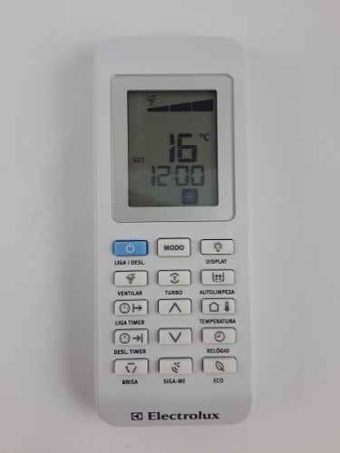 CONTROLE REMOTO ORIGINAL AR SPLIT ELECTROLUX-TI09-TI12-TI18-TI24-VI09-VI12.