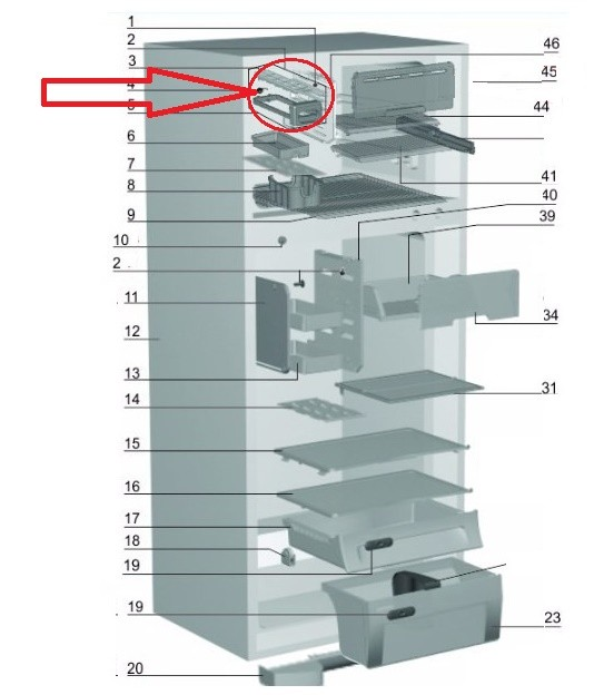 Forma de Gelo Geladeira Electrolux DF47 DF49 DF50 DF51 DFN50