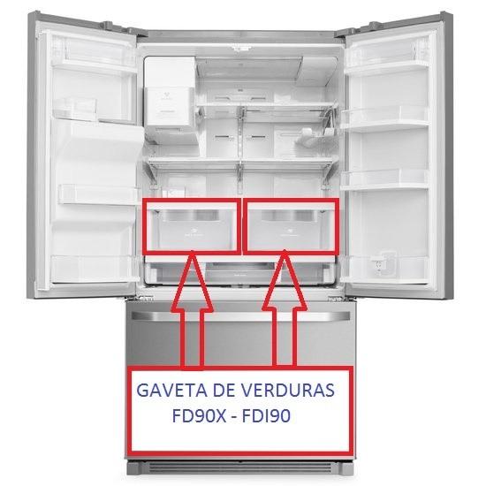 GAVETA DE VERDURAS GELADEIRA ELECTROLUX FD90X-FDI90