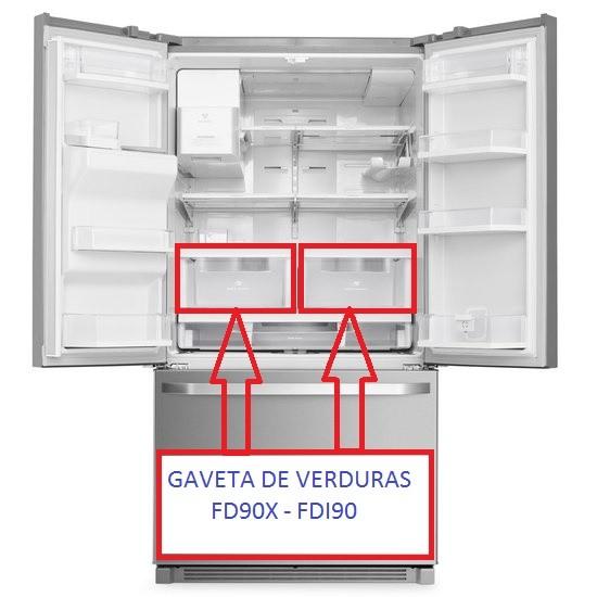 Gaveta de Verduras Refrigerador Electrolux FD90X FDI90