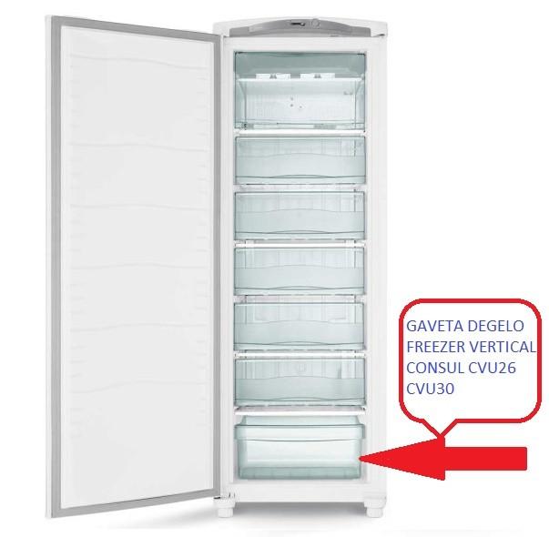GAVETA DEGELO FREEZER VERTICAL CONSUL CVU26C-CVU30C