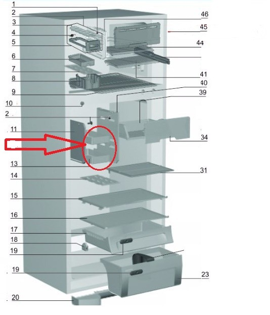 Gaveta Pequena Geladeira Electrolux DF43 DF47 DF48 DF50 DFN50