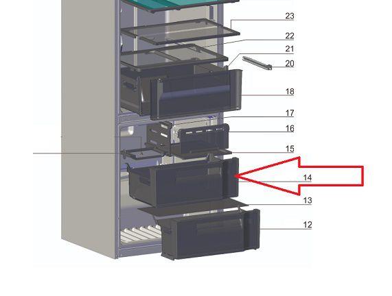 GAVETA SUPERIOR DO FREEZER DB52-DB53-DB52X-DB53X-IB52-IB53