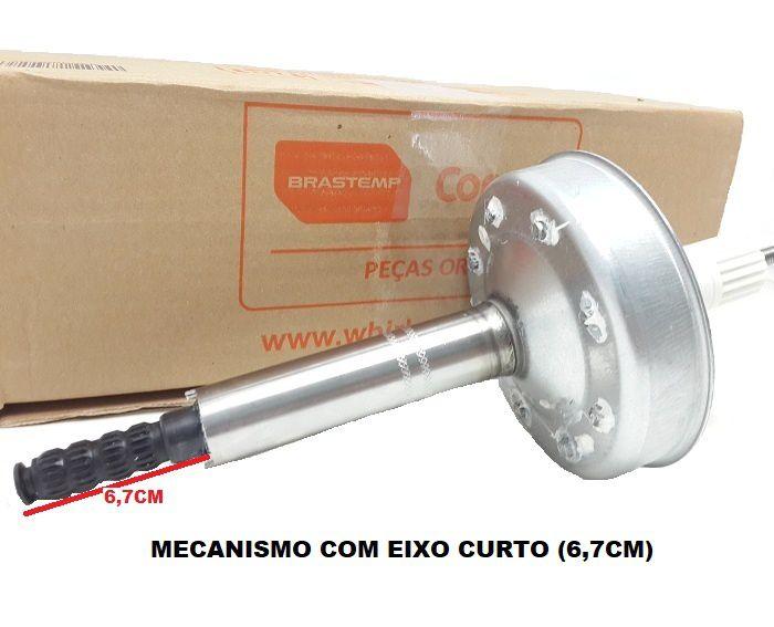 Mecanismo Eixo Curto Brastemp Bwc10 Bwl11 Bwq24 Bwt08 Bwt09