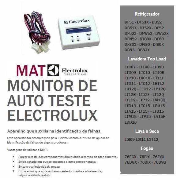 Monitor Auto Teste Electrolux Lavadoras e Refrigeradores