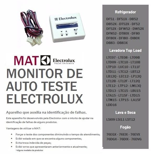 MONITOR DE AUTO TESTE ELECTROLUX -MAT