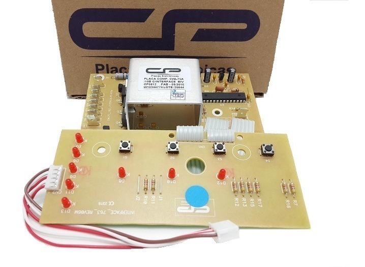 PLACA COM INTERFACE SIMILAR CP LAVADORA CONSUL CWL75A - CWL10B (326057062/ W10315110/ W10344774)