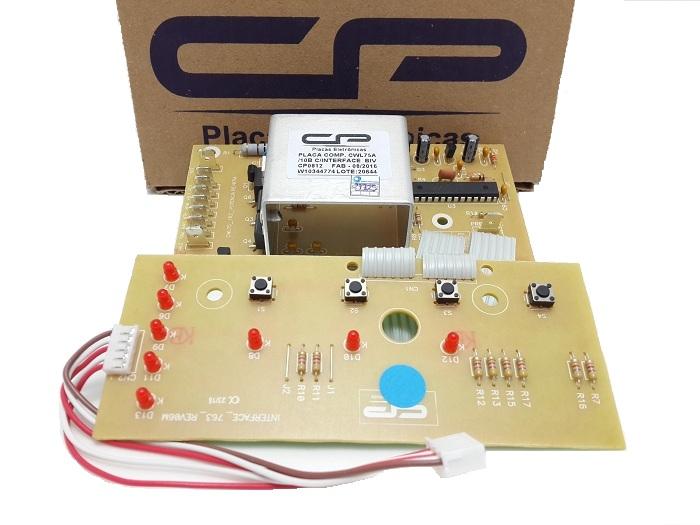 Placa Potencia e Interface Lavadora Consul Cwl10b Cwl75 Bivolt