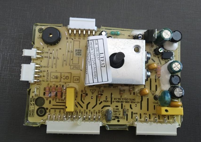PLACA POTÊNCIA LAVADORA ELECTROLUX LTE12 -VERSÃO 02 ORIGINAL