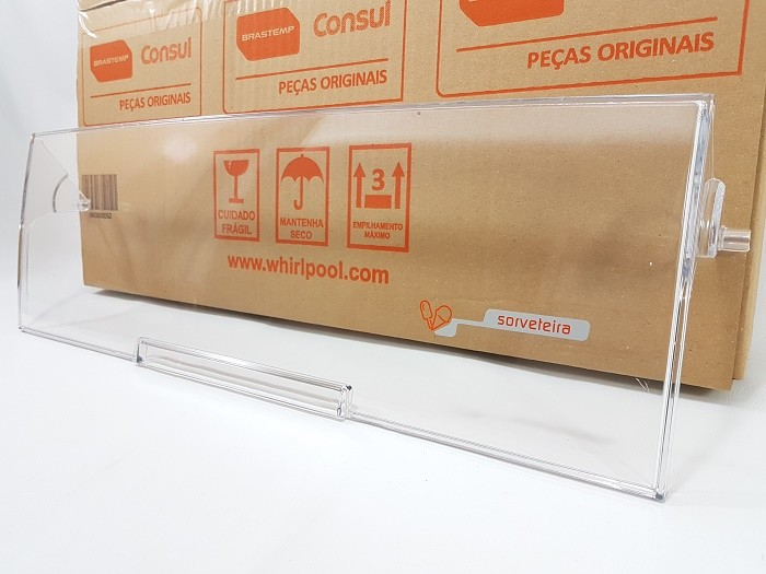 Porta Compartimento Sorvete Geladeira Brastemp Brm48n Brm50n