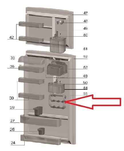 Porta Latas Geladeira Electrolux DF47 DF49 DF50 DFN49 DFN50