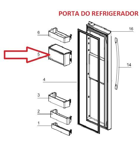 Porta Laticinios Geladeira Side By Side SS90X SH90X Electrolux