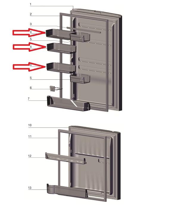 PRATELEIRA 2/3 PORTA GELADEIRA ELECTROLUX DB52-DB52X-DT52X-IB52-IB52X