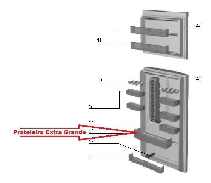 PRATELEIRA EXTRA GRANDE- DC45/ DC47/ DC48/ DF35/ DFF40