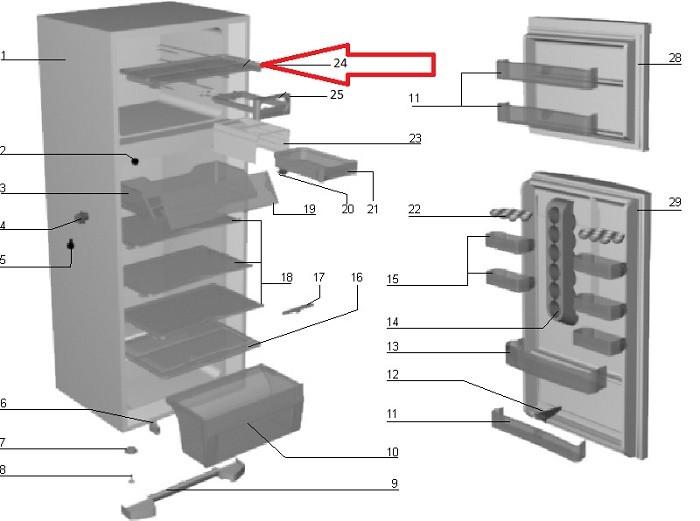 Prateleira Freezer Geladeira Electrolux DC45 DC46 DC47 DC48 DC50