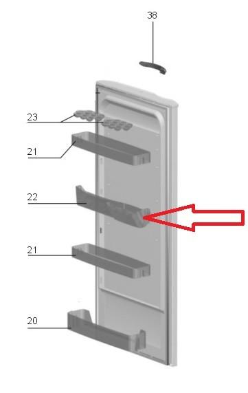 Prateleira Latas Geladeira Electrolux Re26 Re28 Re29 Rde30