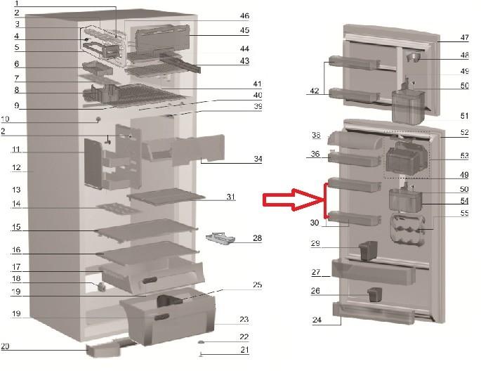 Prateleira Media Porta Geladeira Electrolux DF49 DF50 DFN50