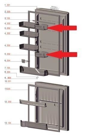 Prateleira Pequena Porta Geladeira Electrolux DB52 DB52X DT52X